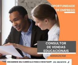 Título do anúncio: Consultor de Vendas Educacionais