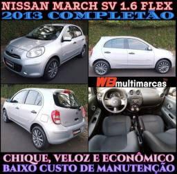 Título do anúncio: Lindo Econômico Veloz e Completo. Nissan March ,SV
