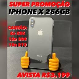 iPhone X 256gb SUPER PROMOÇÃO, em até 18x no cartão com acréscimo