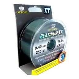 Linha Pesca Monofilamento Ottoni Platinum Xt 0,40 43lb 250m
