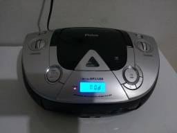 Micro system Philco, função: rádio, cd, mp3, usb com entrada de áudio auxiliar