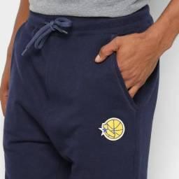 Calça Moletom NBA Golden State Warriors Mitchell Ness em duas cores original c/etiquetas