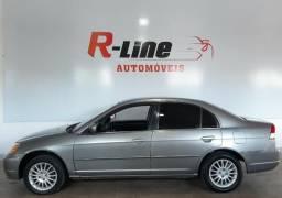 Honda Civic LXL 1.7 16V automático/bancos em couro/pneus novos - 2003