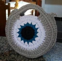 Bolsas de crochê com fio de malha