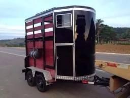 Projeto Carretinha Trucada Reboque Para 2 Cavalos