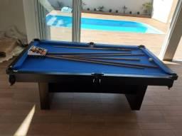 Mesa de Bilhar Preta Tx Tecido Azul Modernizando seu ambiente