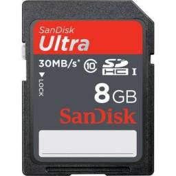 SanDisk 8GB Sdhc Catão de Memória Memory Card Ultra Class 10 UHS-1