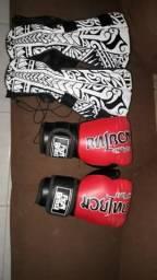 Luvas de Muay Thai e Caneleira