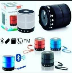Mini Caixa de Som - Portátil - Bluetooth - Rádio - Cartão SD - Pendrive - Telefone - Not