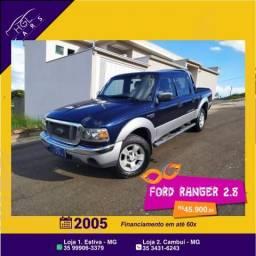 RANGER 2004/2005 2.8 XLT LIMITED 4X4 CD 8V TURBO INTERCOOLER DIESEL 4P MANUAL - 2005