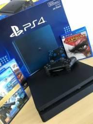 PS4 Slim 1TB NOVO + 3 JOGOS + Controle