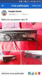 Rádio cd e aux pionner
