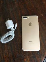 IPhone 7 Plus Gold - 32GB - impecavel - completo