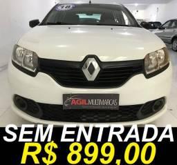 Renault Sandero 1.0 Authentique Único Dono 2018 Branca
