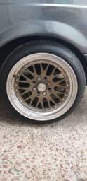 Jogo de rodas rodera 15x8 com pneus