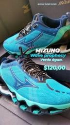 MIZUNO wave prophecy x verde água