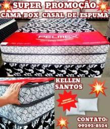Título do anúncio: Cama Box de Casal Espuma + Brinde YY