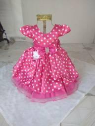 Vestido infantil Mine rosa