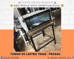 Forno de lastro a gás 65x65 interno - Progas | Matheus