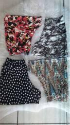 Venda shorts malhas variadas temos variedade cores