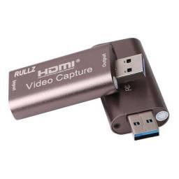 Placa de captura HDMI Usb 3.0 grava 4k a 30fps e 1080p e abaixo em 60fps faz live stream