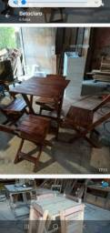 Título do anúncio: Conj. Mesa e cadeira dobrável