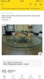 Título do anúncio: Prato Giratorio Centro de Mesa -  Vidro 8mm Temperado 70cm Incolor