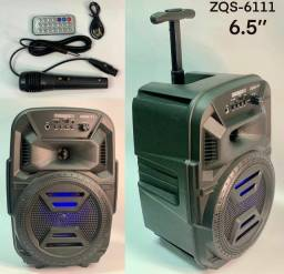 Título do anúncio: Caixa de som portátil de rodinhas com microfone e controle