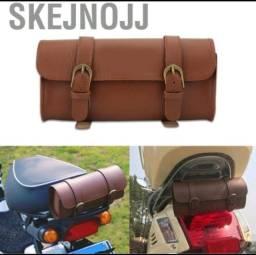 Título do anúncio: Bolsa de couro importada para bicicleta s e Motos