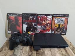 PLAYSTATION 2 completo + 4 jogos