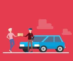 Marido de aluguel e entregas de carro