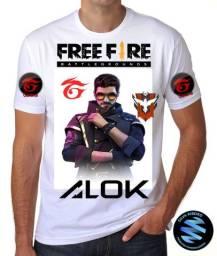 Camiseta Free Fire com nomes personalizados!