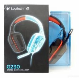 Fone Headset Logitech G230 * Stereo Gaming * Novo Lacrado