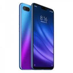 Xiaomi mi 8 lite azul 128gb 6gb ram avista no dinheiro