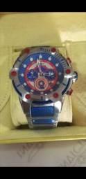 Relógio Invicta Marvel Capitão América a prova d'água