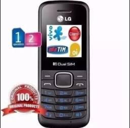 Celular LG B220 2 chip, lanterna, rádio