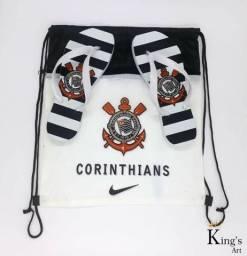 "Chinelo + Mochila ""Corinthians"""