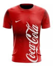 Camisas - Camisetas Estampas Coca-Cola - Estilo Time de Futebol (P,M,G,GG)