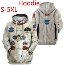 Blusa Traje Espacial Astronauta Armstrong - Impressão - Nova - Tam M