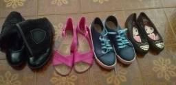 3 pares de calçados tamanho 27 ,29,30 bem conservados