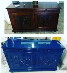Laqueação e restauração de móveis em geral