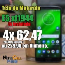 Display Completo para Moto E5 Modelo XT1944- Display Completo- Valor já Instalado