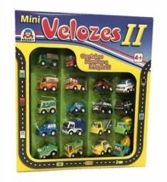 18 Carrinhos A Friccao Mini Velozes Ii Braskit Carros Cidade