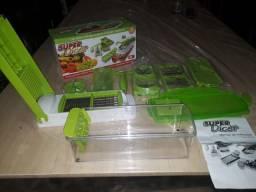 Kit Fatiador Cortador De Legumes Plástico- Super Dicer