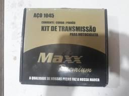 Kit de Transmissão para Motos. Corrente, Coroa e Pinhão.