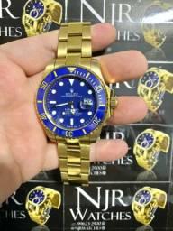 Relogio Rolex azul submariner azul banhado novo
