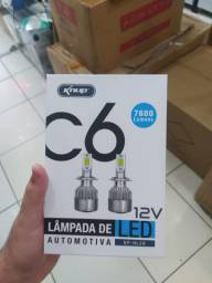 Lampadas Led H4 Knup Veicular Super Branca Forte