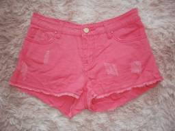 Título do anúncio: Shorts Jeans Coral - Tam 40