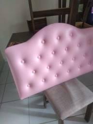 Título do anúncio: Cabeceira de cama de solteiro Rosa bebê usada mas está bem conservada ,usada muito pouco