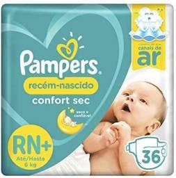 Fralda Pampers Confort Sec Rn+ até 6 kg 36 unidades<br><br>